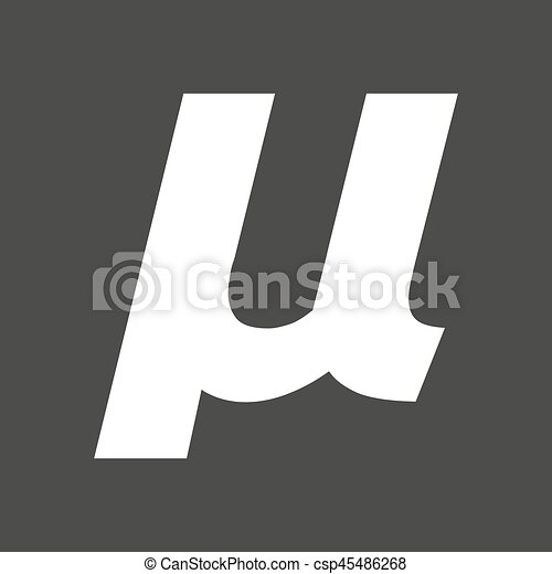 Isolated Vector Illustration Of A Micro Sign Mu Greek Clip Art