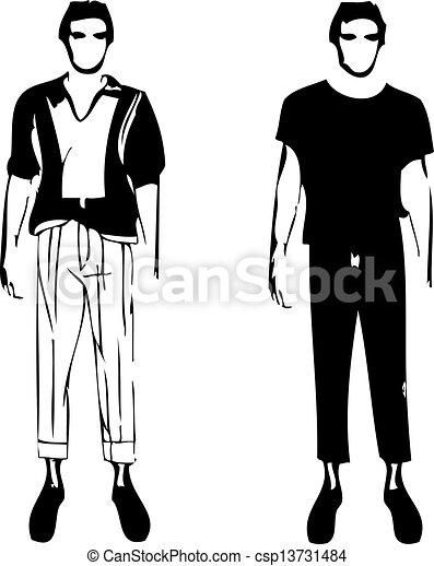 2 Men Clip Art