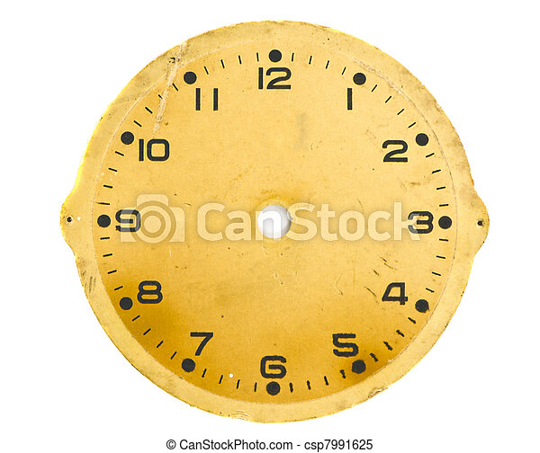 isolated vintage and grunge clock dial - csp7991625