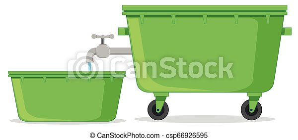 Isolated water container on white background - csp66926595