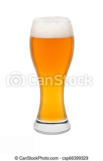 Isolated Wheat Beer, with Foam top #1 - csp66399329