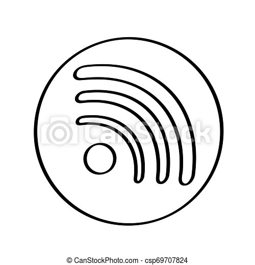 Isolated wifi icon on a white background - csp69707824
