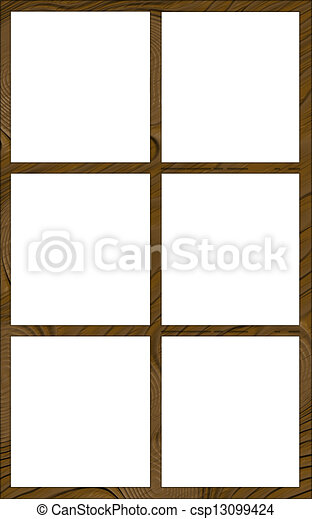 isolated window frame 6n contour isolated single layered contoured rh canstockphoto com white window frame clipart Window Clip Art