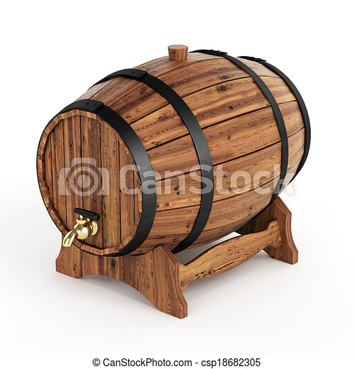 Isolated wine barrel - csp18682305