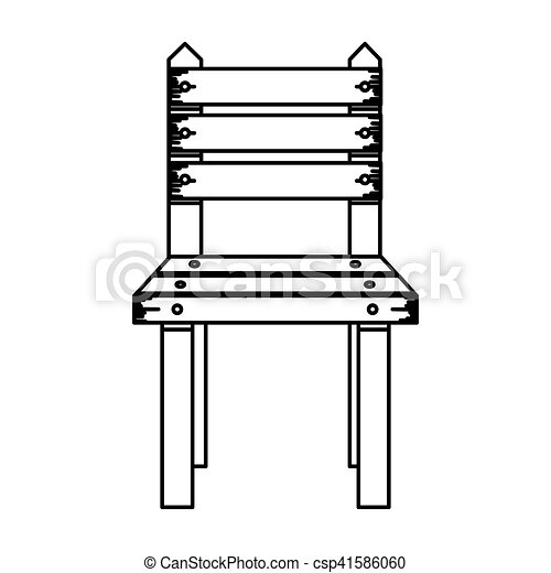 Isolated wood chair design. Wood chair icon. seat furniture... clip ...