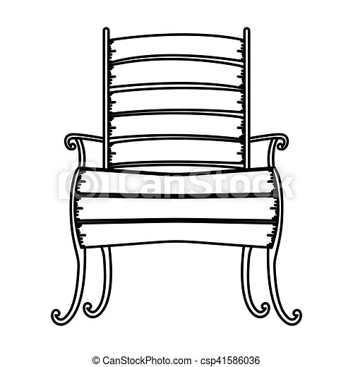 Isolated wood chair design. Wood chair icon. seat furniture ...