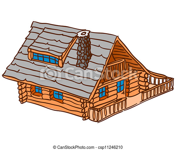 Isolated Wooden Cabin - csp11246210