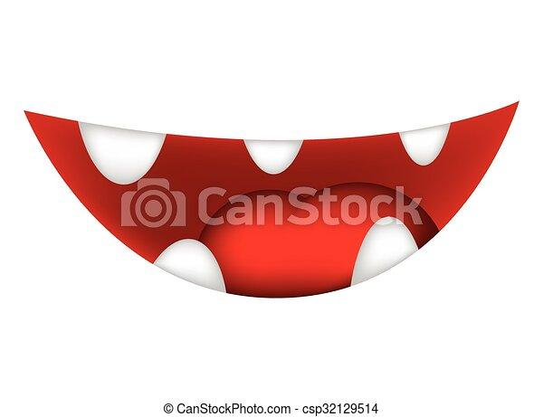 Isolato illustrazione cartone animato labbra vettore fondo