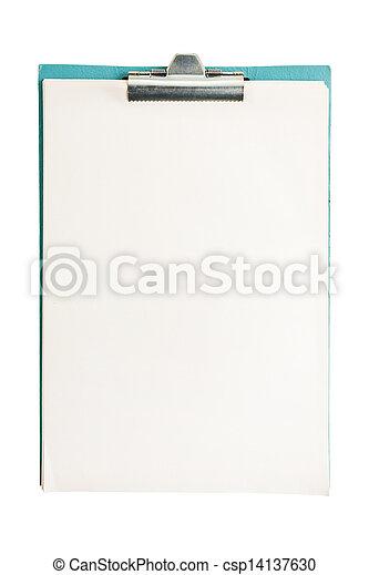 isolato, vuoto, aperto, blocco note, bianco - csp14137630