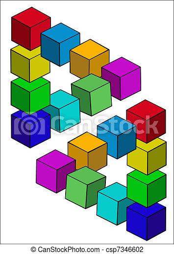 Die Illusion wird auf weiß isoliert - csp7346602