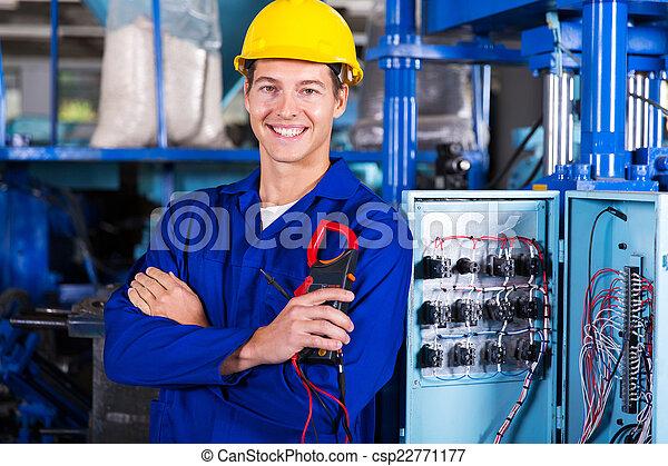 Elektriker mit digitaler Isolierung - csp22771177