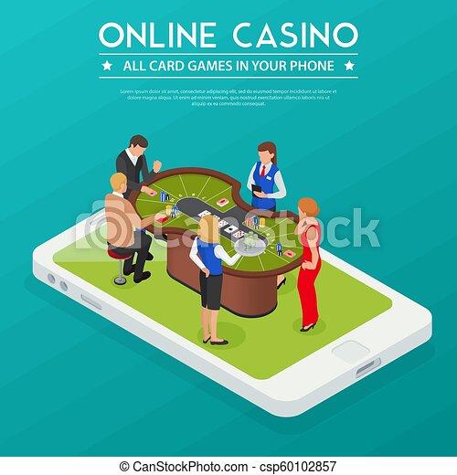 Composición isométrica del casino online - csp60102857