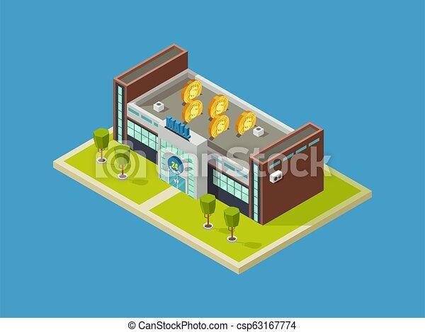 Comprando diseño vectorial isometrico del centro comercial. Centro comercial - csp63167774