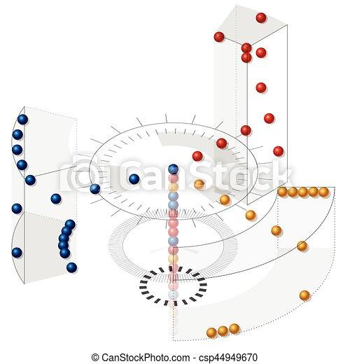 isométrico, clasificación, almacenes, vector, perspective., paraphrase, datos, data. - csp44949670
