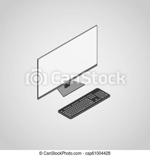 Una computadora de escritorio - csp61004428