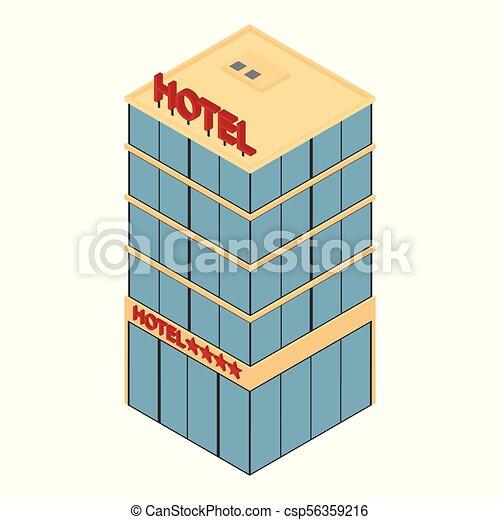 Isometric Hotel icono - csp56359216