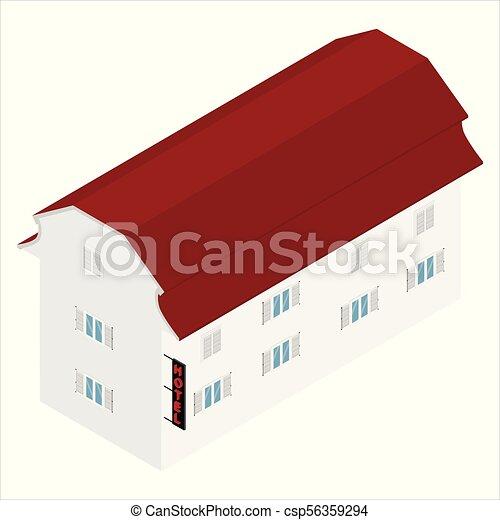 Isometric Hotel icono - csp56359294