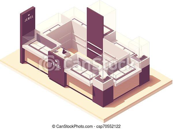 Vector isometric joyero centro comercial quiosco - csp70552122