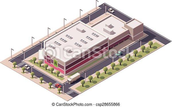 Vector isometrico centro comercial - csp28655866