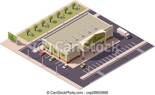 Vector isometrico centro comercial - csp28655868