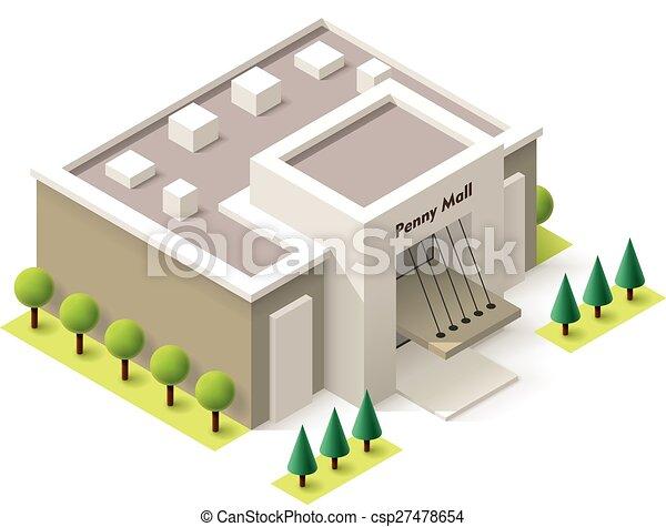 Vector isometrico centro comercial - csp27478654