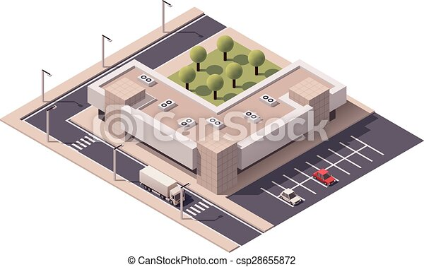 Vector isometrico centro comercial - csp28655872