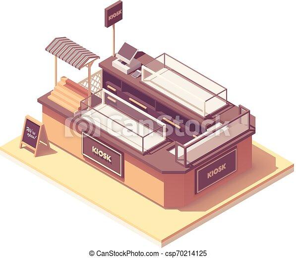 Vector isometric centro comercial quiosco de ventas - csp70214125