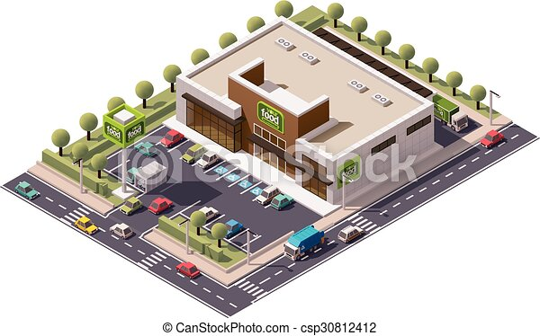 Vector Isometric supermercado - csp30812412
