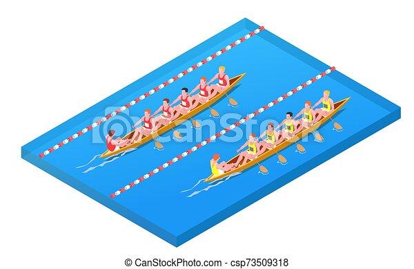 isométrique, composition, sports nautiques - csp73509318