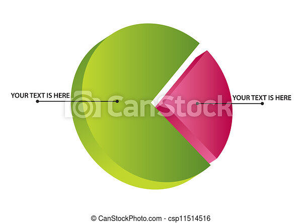 isométrique, graphique circulaire - csp11514516