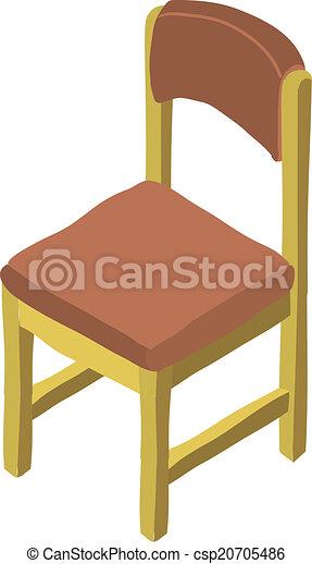 Isom trique vecteur dessin anim chaise bois icon for Mueble animado