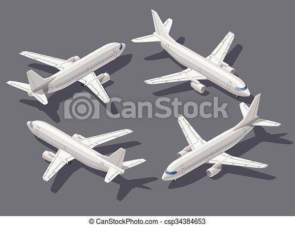Isometric airplane  - csp34384653