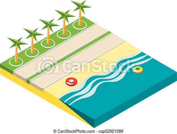 isometric beach objects isolated on white background vector rh canstockphoto com beach background clipart free sunny beach background clipart