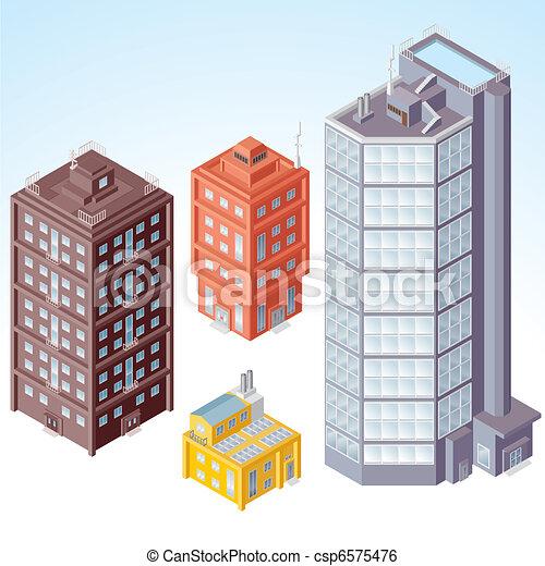 Isometric Buildings #1 - csp6575476