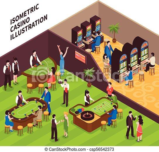 Isometric Casino Illustration - csp56542373