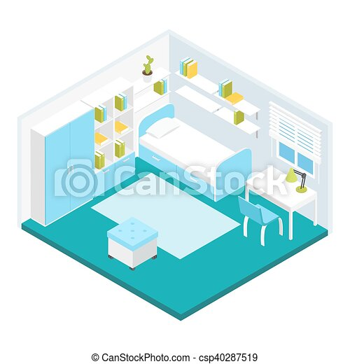 Isometric Children Room Composition - csp40287519