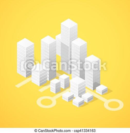 Isometric city block - csp41334163