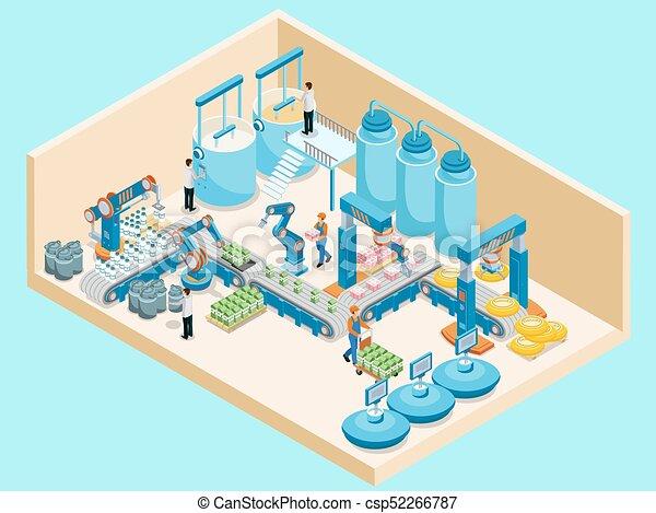 Isometric Dairy Plant Template - csp52266787