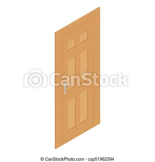 Open Door Drawing Perspective To Isometric Door Vector Door Vector Illustration Isometric Perspective