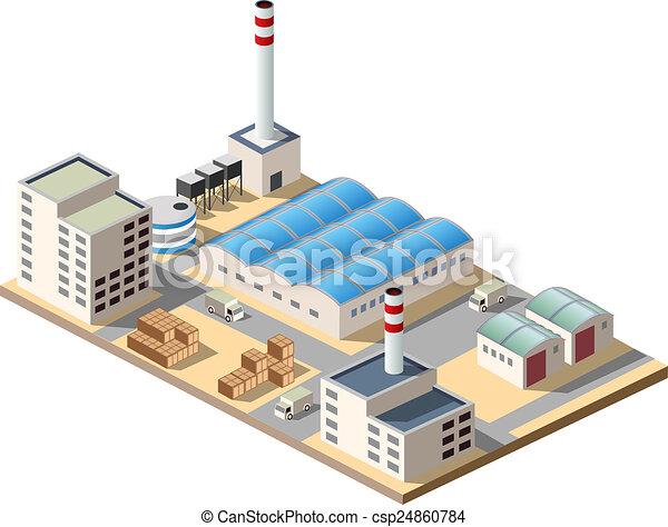 Isometric factory - csp24860784