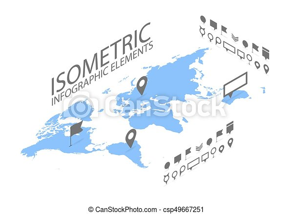 Isometric gps navigation concept world map application and isometric gps navigation concept world map application and marker pin pointer csp49667251 gumiabroncs Image collections
