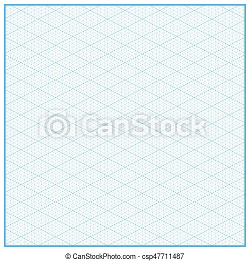 Isometric Graph Paper Layout With  Degree Background  Vector