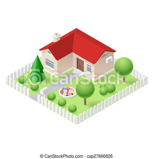 Isometric home - csp27666826