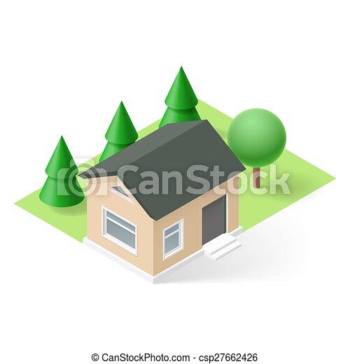 Isometric house - csp27662426