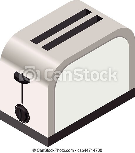 Isometric icon of a toaster - csp44714708