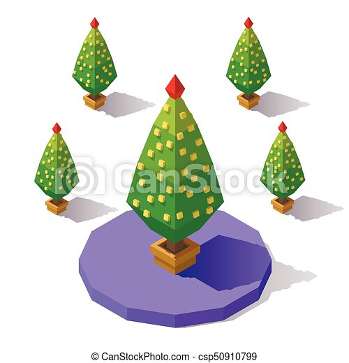 isometric low poly tree csp50910799 - Polytree Christmas Tree