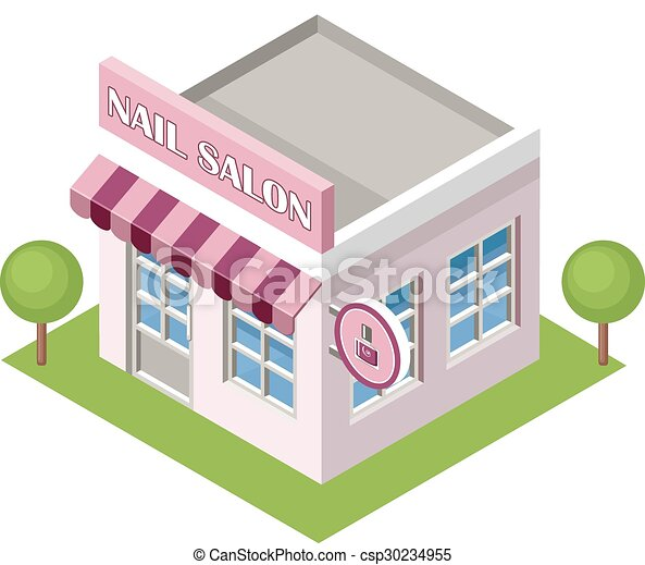 isometric nail salon on the white background vector clipart rh canstockphoto com Nail Salon Designs hair and nail salon clip art