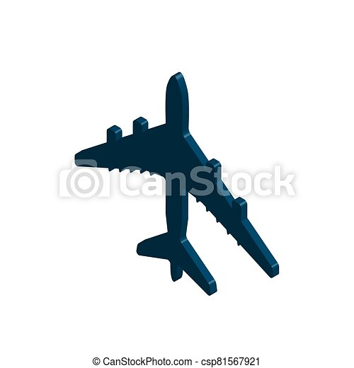 Isometric of airplane flight vector icon. Illustrator. - csp81567921