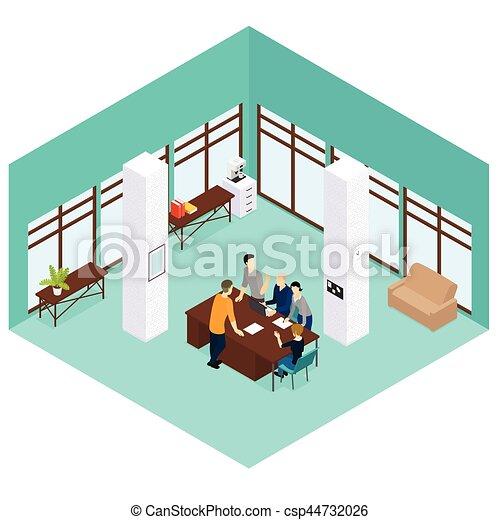 Isometric People Teamwork Concept - csp44732026