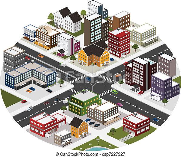 isometric scene of big city - csp7227327